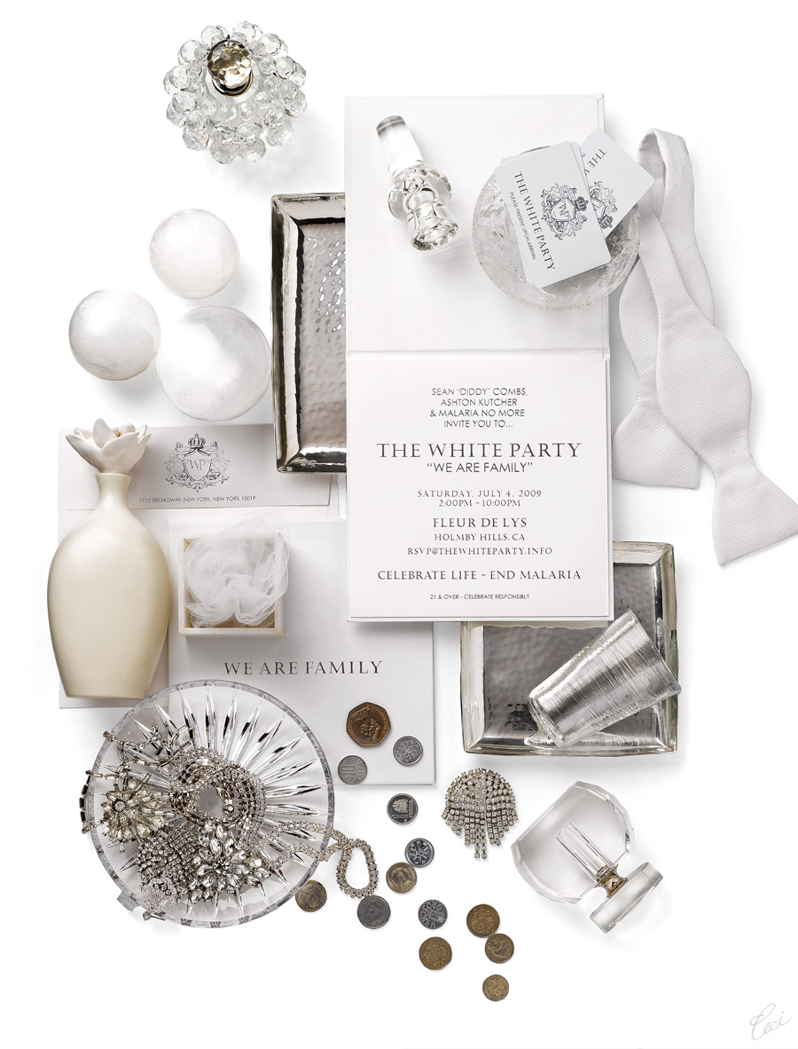 V46: Our Muse - Diddy\'s White Party Invitations — Ceci Style