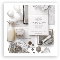 V46: Our Muse – Diddy's White Party Invitations