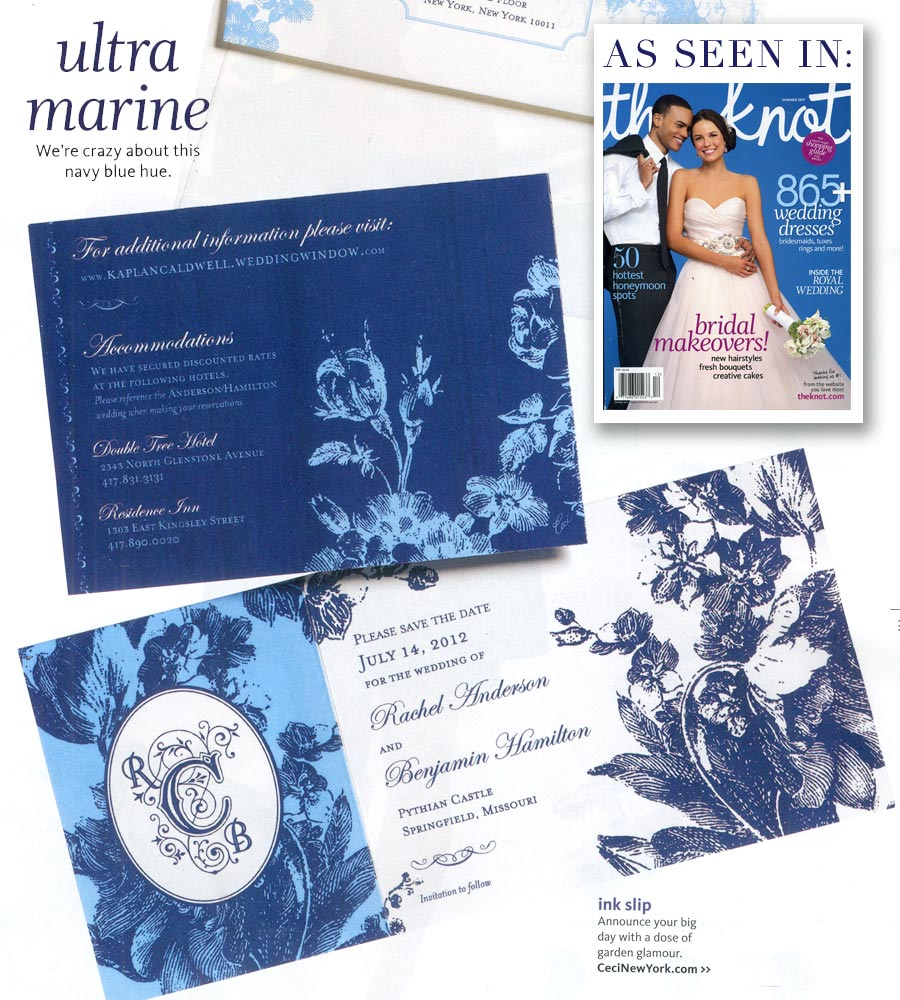 The Knot features the Ceci Ready-to-Order design Heirloom!