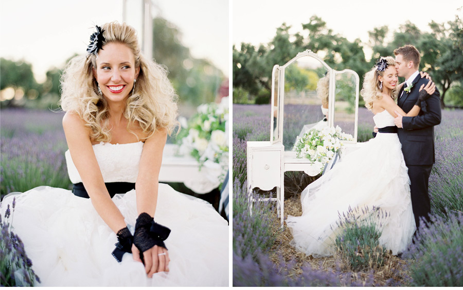 Our Muse - Wedding Photos - Be inspired by this elegant black & white wedding