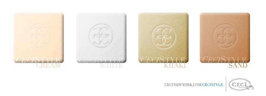 Ceci's Color Stories - Cream & White Wedding Colors - color swatches, cream, khaki, sand, wedding, white