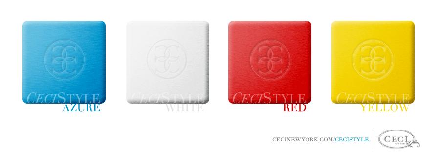 Ceci's Color Stories - Azure & White Event Colors - color swatches, azure, event, red, white, yellow