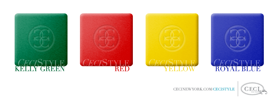 Ceci Color Stories - Primary Event Colors - color swatches, event, kelly green, red, royal blue, yellow