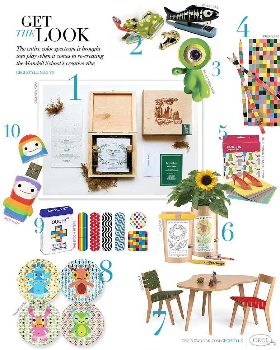 CeciStyle Magazine v6 - Back to School: Get The Look - The entire color spectrum is brought into play when it comes to re-creating the Mandell School's creative vibe