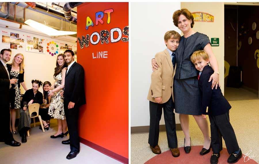 Our Muse - Event Photos – School Opening Party: Mandell School - Be inspired by the creative style of the Mandell School - boxed, digital printing, event, invitations, letterpress printing