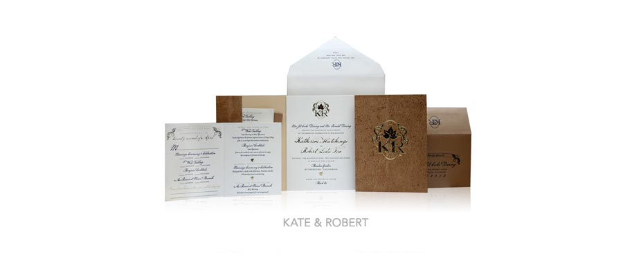 Fall-Inspired Invitation Designs - Ceci New York Invitations - Ceci Couture - Kate & Robert