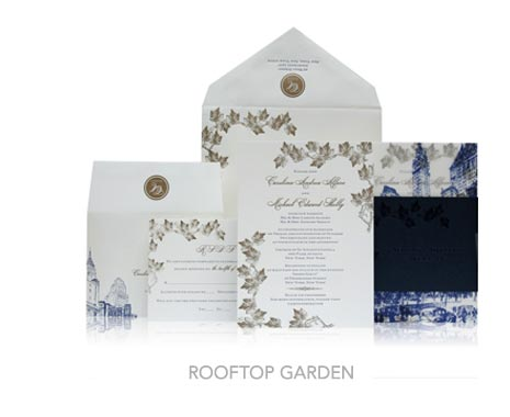 Fall-Inspired Invitation Designs - Ceci New York Invitations - Ceci Ready-to-Order - New York Collection - Rooftop Garden