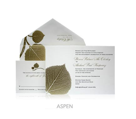Fall-Inspired Invitation Designs - Ceci New York Invitations - Ceci Ready-to-Order - Botanical Collection - Aspen