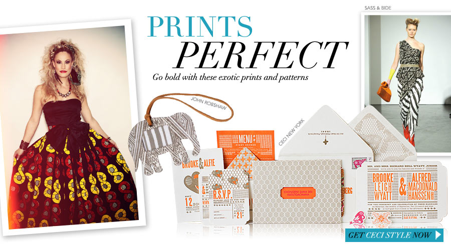 Prints Perfect - Go bold with these exotic prints and patterns