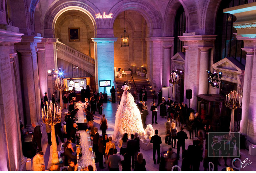 Our Muse - the New York Public Library The Knot 15th Anniversary Gala at the New York Public Library - Be inspired by this classically-styled wedding industry event