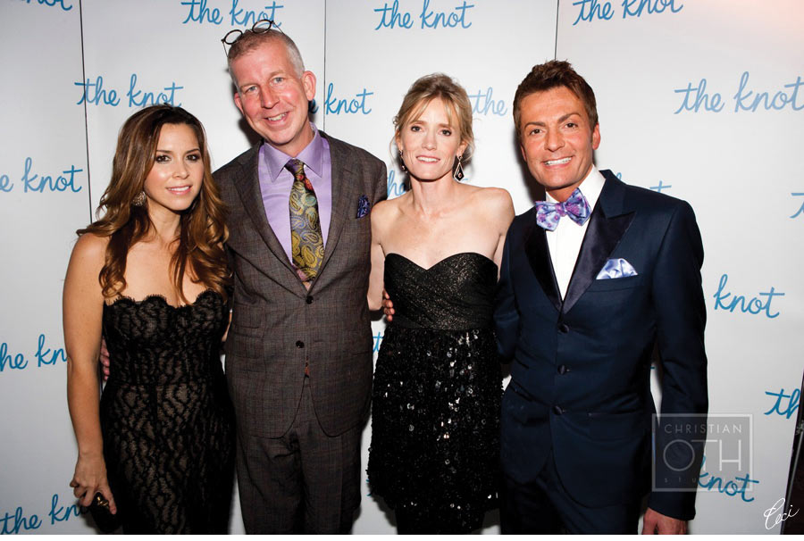 Our Muse - The Knot 15th Anniversary Gala at the New York Public Library - Monique Lhuillier, David Beahm, Carley Roney & Randy Fenoli - Be inspired by this classically-styled wedding industry event - event, wedding, appearances, ceci johnson