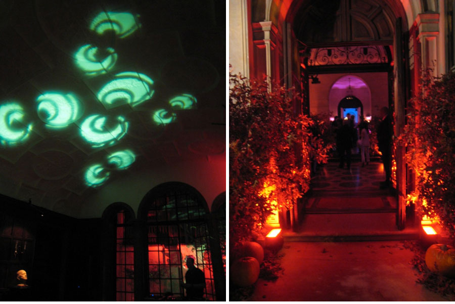 halloween lighting tips by levy lighting eerie eyes projected onto your ceiling in green will - Halloween Lights Thriller