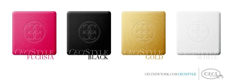Ceci's Color Stories - Fuchsia & Black Wedding Colors - color swatches, black, fuchsia, gold, wedding, white