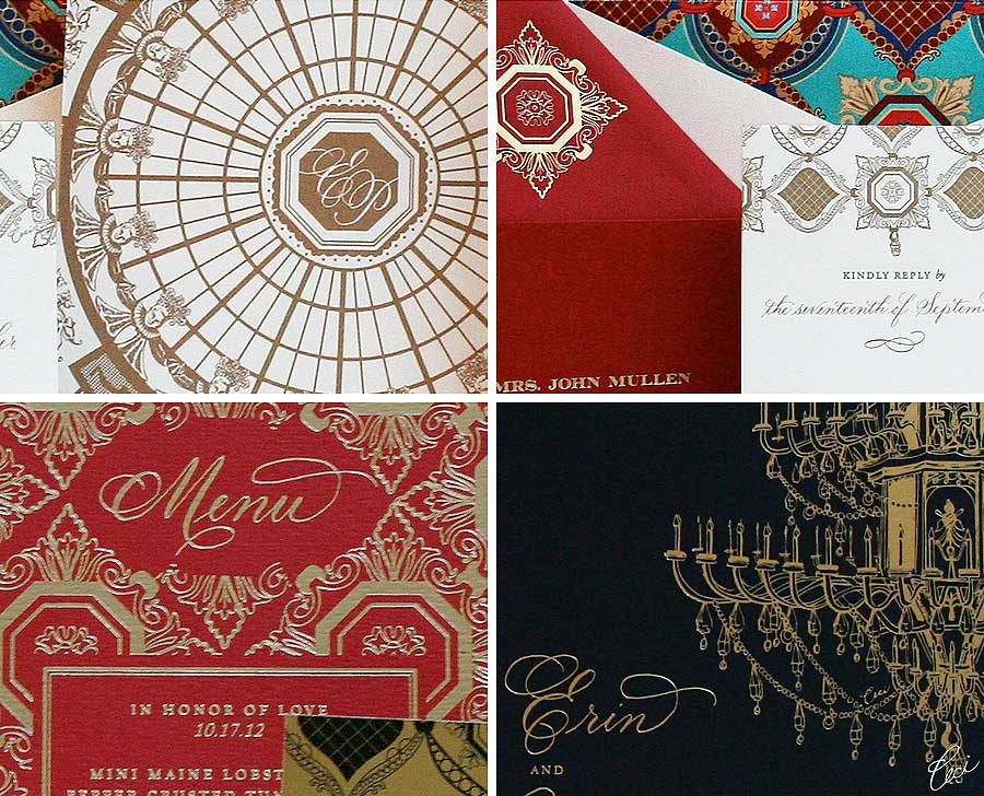 Luxury Wedding Invitations by Ceci New York - Our Muse - Circle Room - Wedding Invitations - Be inspired by the Ceci New York for The Breakers Collection - ceci new york, digital printing, foil stamping, hand calligraphy, invitations, letterpress printing, offset printing, the breakers, wedding
