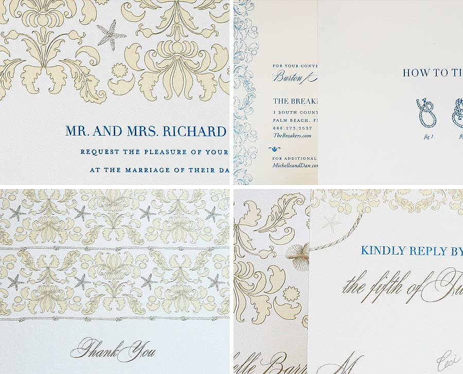 Luxury Wedding Invitations by Ceci New York - Our Muse - Stella Maris - Wedding Invitations - Be inspired by the Ceci New York for The Breakers Collection - ceci new york, digital printing, foil stamping, hand calligraphy, invitations, letterpress printing, offset printing, the breakers, wedding