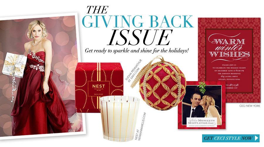 The Giving Back Issue - Get ready to sparkle and shine for the holidays!