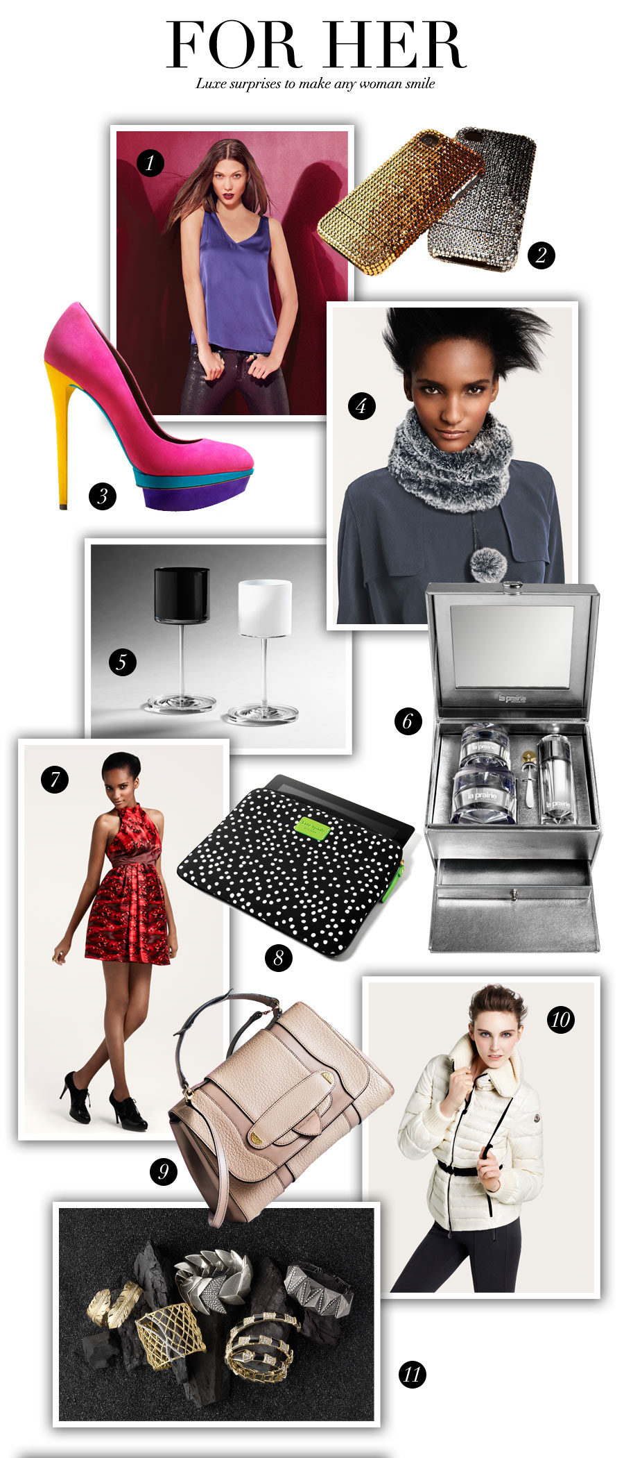 Holiday Fashion For Her: Luxe surprises to make any woman smile - Holiday Fashion For Her & Him by Brooke Jaffe, Bloomingdale's