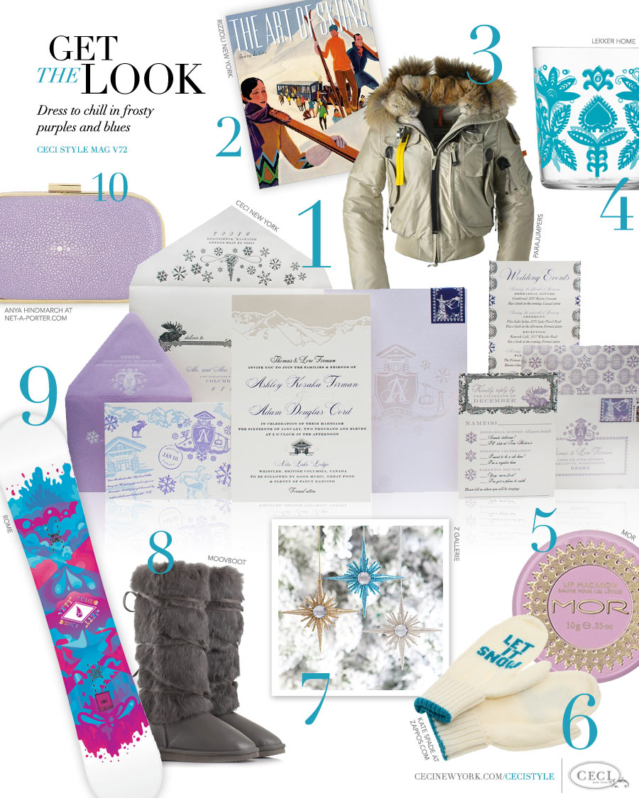 CeciStyle Magazine v72: Get The Look - Frosty Fantasy - Dress to chill in frosty purples and blues