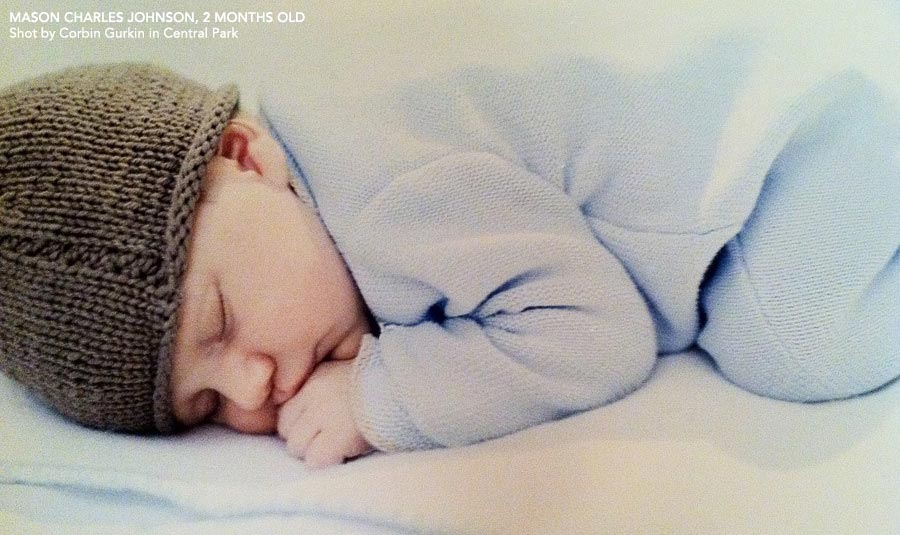 Ceci Johnson's son - Mason Charles Johnson, 2 months old. Shot by Corbin Gurkin in Central Park, New York City.
