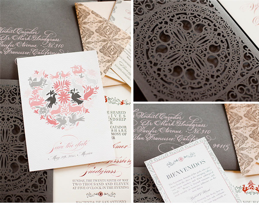 Luxury Wedding Invitations by Ceci New York - Our Muse - Elegant Mexican Wedding - Be inspired by Xochitl and Mark's elegant Mexican wedding - wedding, invitations, letterpress printing, foil printing, laser-cut printing, digital printing