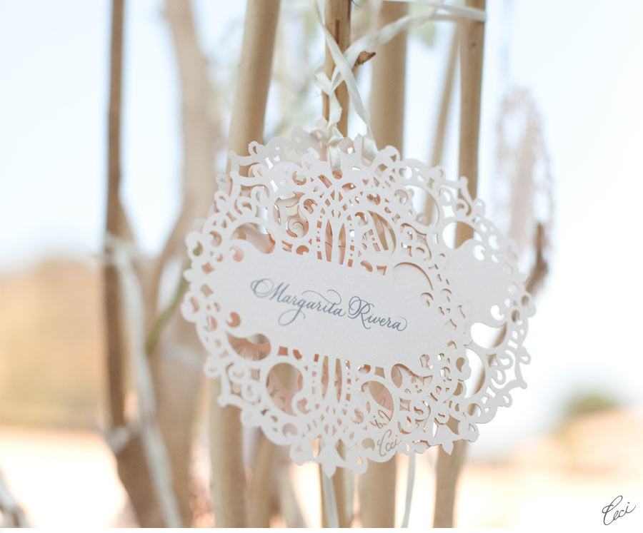 Our Muse - Elegant Mexican Wedding - Be inspired by Xochitl and Mark's elegant Mexican wedding - wedding, escort cards, place cards, table signs, menus