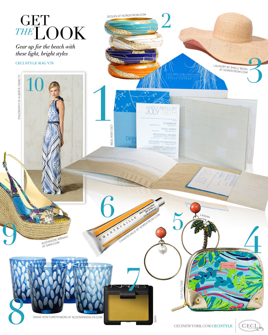 CeciStyle Magazine v79: Get The Look - Escape to Paradise - Gear up for the beach with these light, bright styles