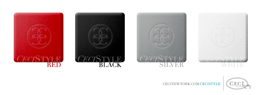 Ceci Color Stories - Red & Black Event Colors - color swatches, black, event, red, silver, white