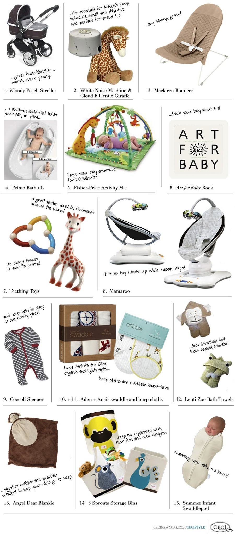 Baby Love: Ceci Johnson's Favorite Baby Products for Her 3-to-4-Month-Old