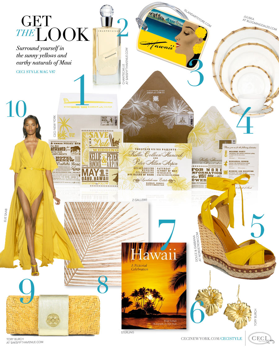 CeciStyle Magazine v87: Get The Look - Magnificent Maui - Surround yourself in the sunny yellows of tropical Maui