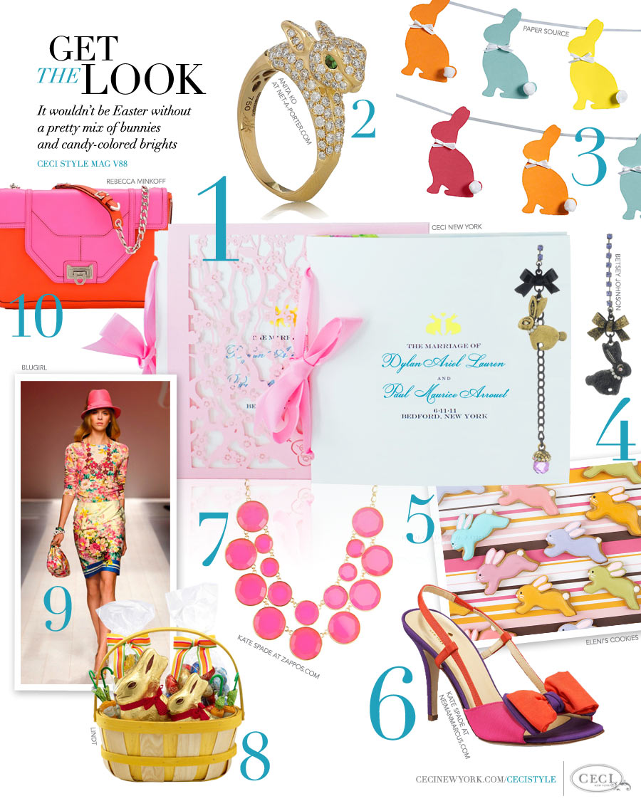 CeciStyle Magazine v88: Get The Look - Bunny Love - It wouldn't be Easter without a pretty mix of bunnies and candy-colored brights