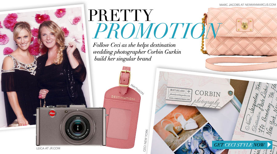 Pretty Promotion - Follow Ceci as she helps destination wedding photographer Corbin Gurkin build her singular brand