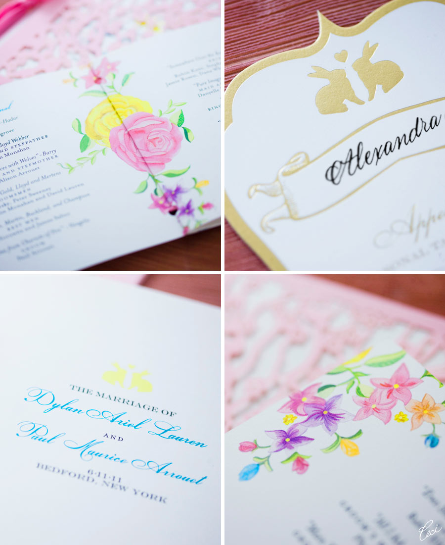 Luxury Wedding Accessories by Ceci New York - Our Muse - Candy-Colored Wedding - Be inspired by Dylan Lauren & Paul's candy-colored wedding - programs, menus, lasercut printing, foil printing, digital printing, die cutting