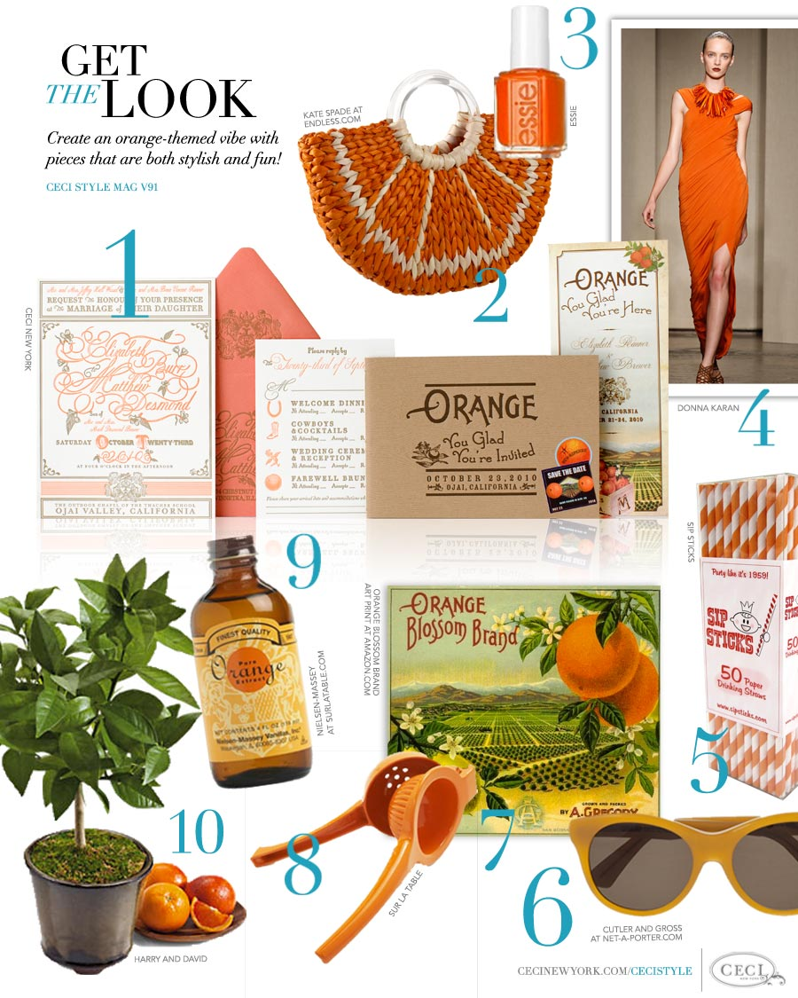 CeciStyle Magazine v91: Get The Look - Orange You Glad? - Create an orange-themed vibe with pieces that are both stylish and fun