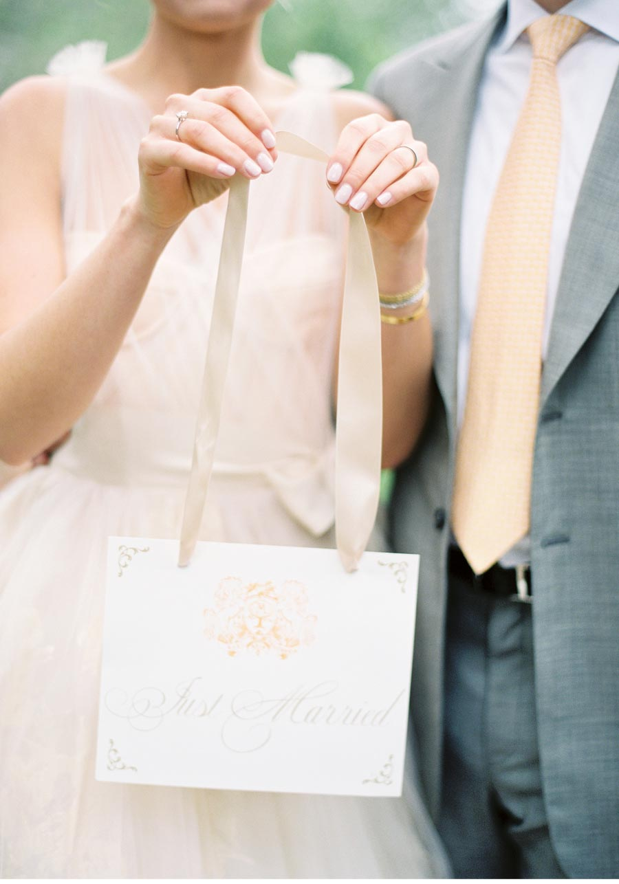 Our Muse - Elegant Orchard Wedding in Ojai - Be inspired by Elizabeth and Matthew's rustic orchard wedding in Ojai, California - wedding, signs