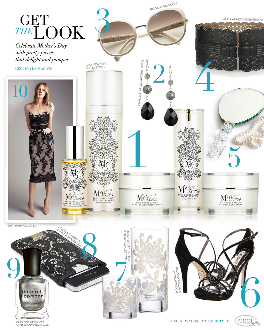 CeciStyle Magazine v93: Get The Look - Beauty Branding - Celebrate Mother's Day with pretty pieces that delight and pamper