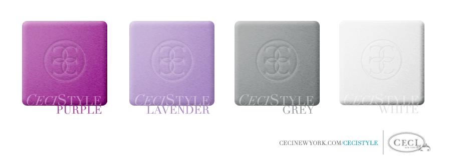 Ceci's Color Stories - Purple & Lavender Wedding Colors - color swatches, grey, lavender, purple, wedding, white