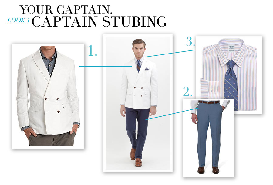 Look #1 - Your Captain, Captain Stubing - Nautical-Inspired Fashion by Dana Schiller, Brooks Brothers