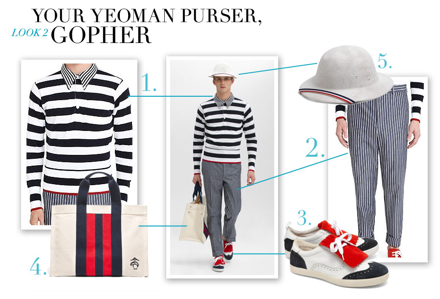 Look #2 - Your Yeoman Purser, Gopher: - Nautical-Inspired Fashion by Dana Schiller, Brooks Brothers