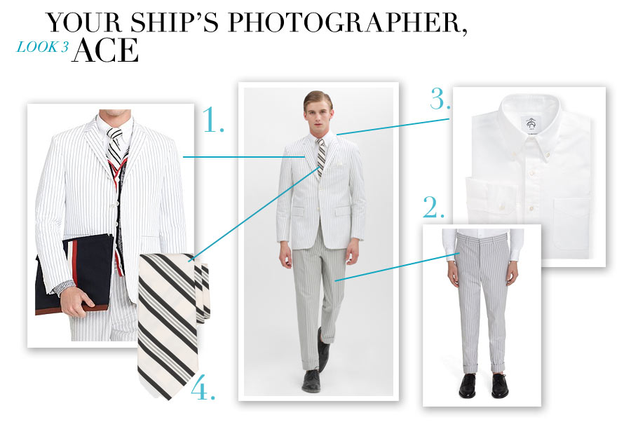 Look #3 - Your Ship's Photographer, Ace - Nautical-Inspired Fashion by Dana Schiller, Brooks Brothers