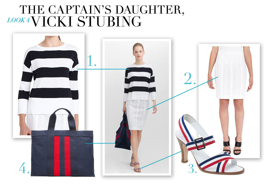 Look #4 - The Captain's Daughter, Vicki Stubing - Nautical-Inspired Fashion by Dana Schiller, Brooks Brothers