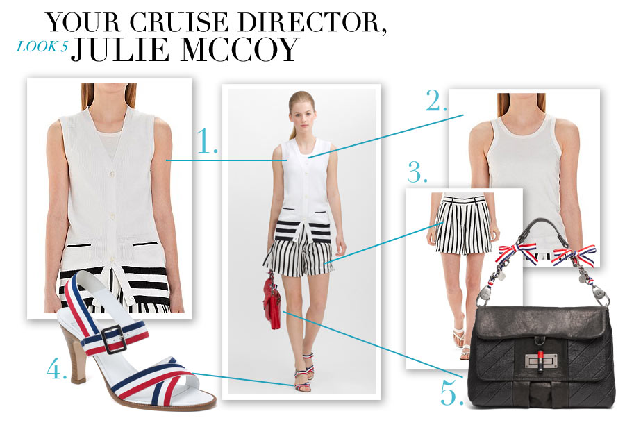 Look #5 - Your Cruise Director, Julie McCoy - Nautical-Inspired Fashion by Dana Schiller, Brooks Brothers