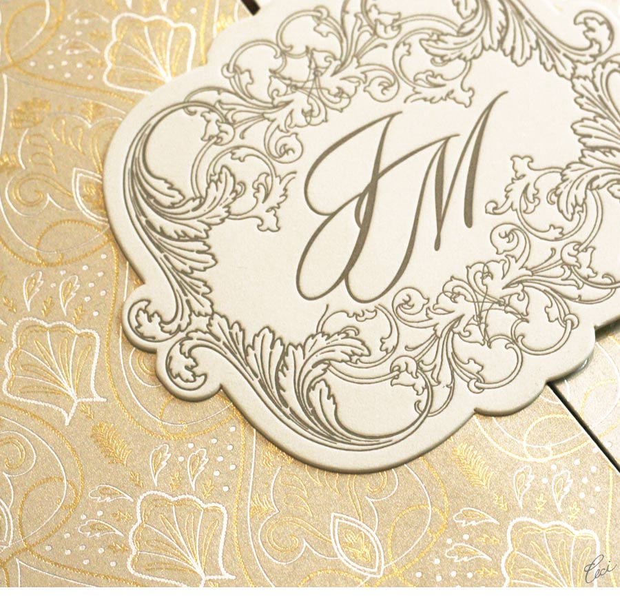 Luxury Wedding Invitations by Ceci New York - Our Muse - Elegant Beachside Wedding - Be inspired by Jennifer & Michael's elegant beachside wedding - wedding, invitations, foil printing, letterpress printing, offset printing, die cutting