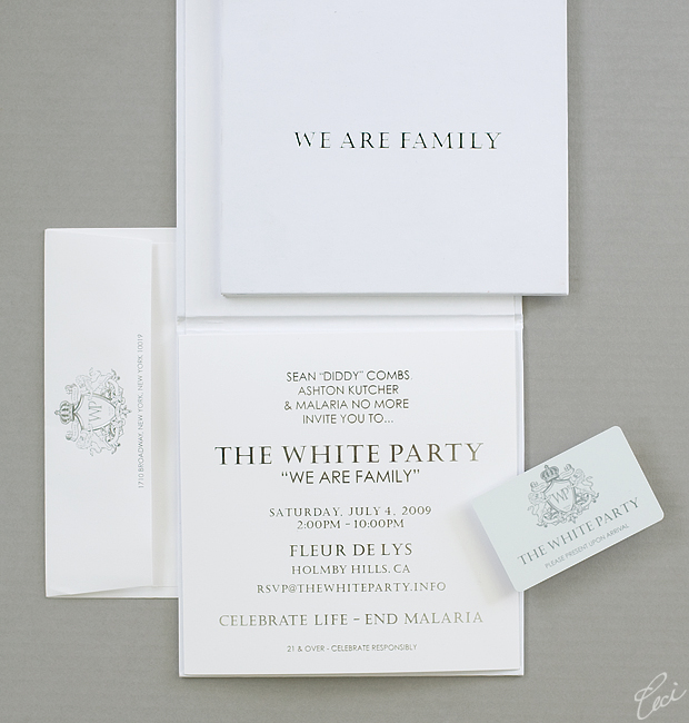 Sean &quot;Diddy&quot; Combs - White Party - Event Invitations - Corporate - Ceci Event - Ceci New York