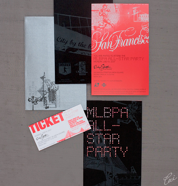 MLBPA All Star Party - Event Invitations - Corporate - Ceci Event - Ceci New York