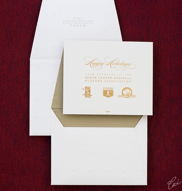 MLBPA Holiday Card - Event Invitations - Corporate - Ceci Event - Ceci New York