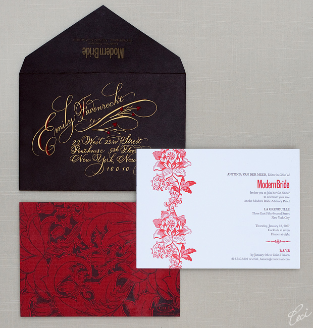 Modern Bride Dinner Party - Event Invitations - Corporate - Ceci Event - Ceci New York