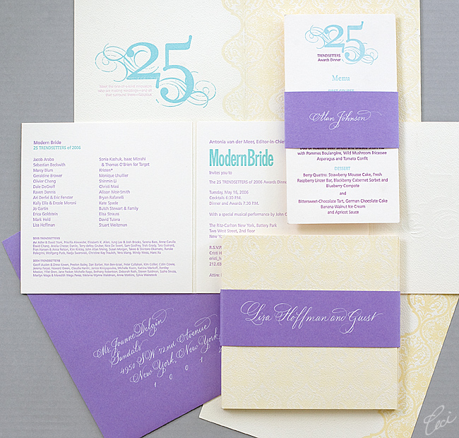Modern Bride Award Dinner - Event Invitations - Corporate - Ceci Event - Ceci New York