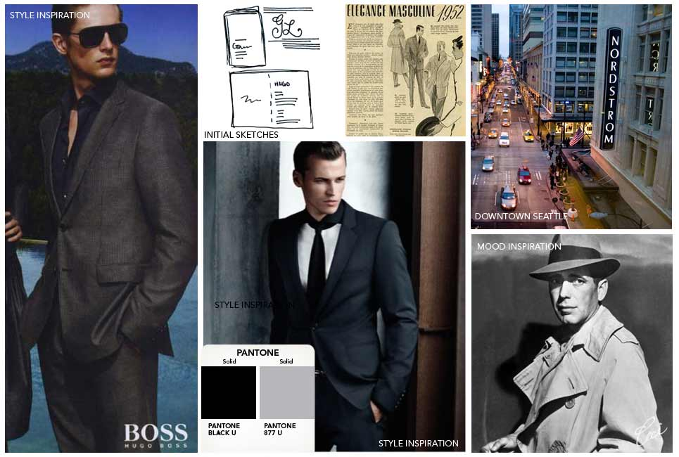 Nordstrom &amp; Hugo Boss - Event Invitations - Inspiration Board - Corporate - Ceci Event - Ceci New York
