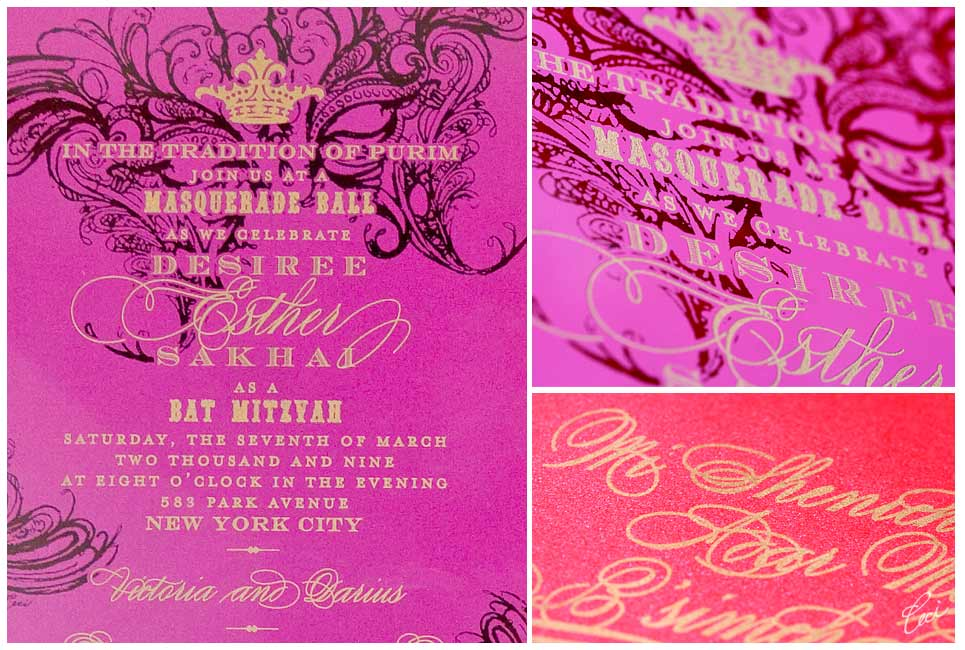 Bat Mitzvah - Event Invitations - Details - Private - Ceci Event - Ceci New York