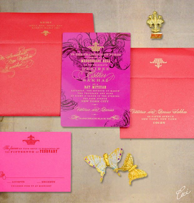 Bat Mitzvah - Event Invitations - Private - Ceci Event - Ceci New York